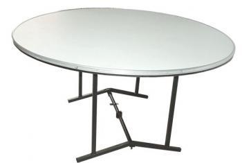 Mesa redonda 695 neto macocel para 10 personas en for Mesas redondas plegables para eventos